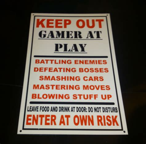funny door signs for bedrooms funny keep out gamer at play bedroom door plaque xbox