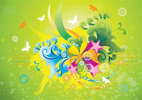 Imagenes Alegres Y Coloridas | vectores florales coloridos alegres descargar vectores