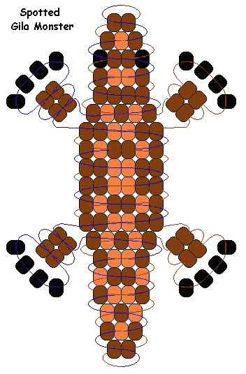 monkey pony bead pattern gila monsters