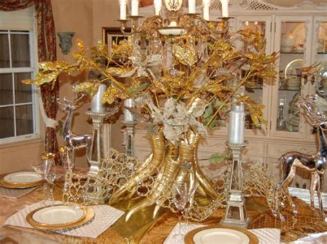new ideas gold and white christmas table decorations with