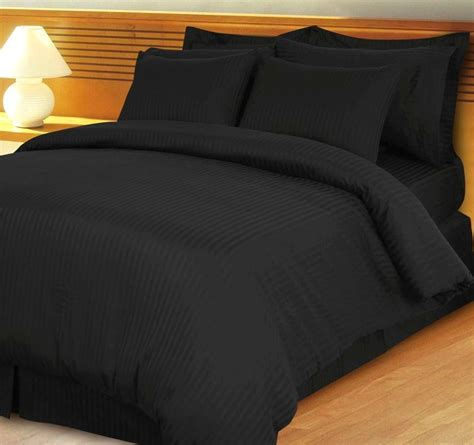 black bedding home opulent decor black stripe comforter