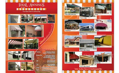 ideal awnings brochure and magazine advert designers in pretoria cape town