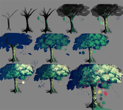 b tree drawing tool done in paint tool sai my newest works welcome on my