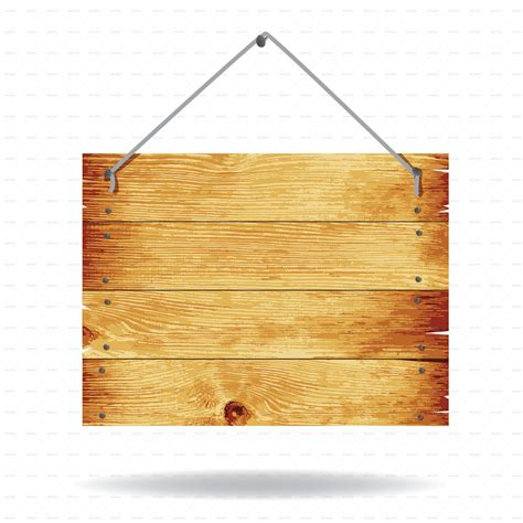 Wooden Sign By Buriy Graphicriver Wood Sign Templates