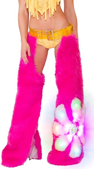 Chaps Pink Flower light up pink chaps pink chaps dancewear chaps