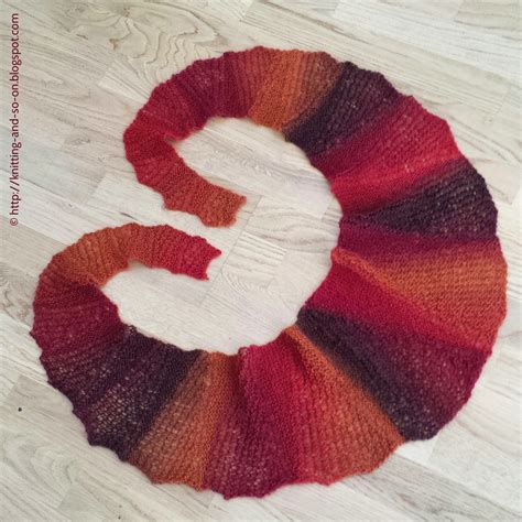 free knitting pattern thin scarf knitting and so on through thick and thin