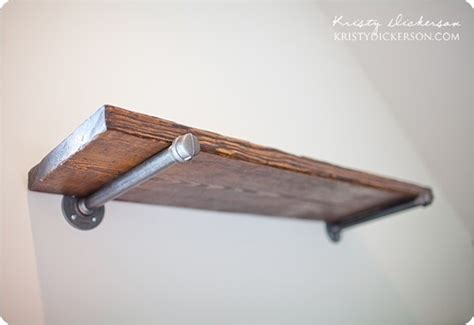 Wood Wall Shelves With Brackets Reclaimed Wood Wall Shelves With Metal Brackets