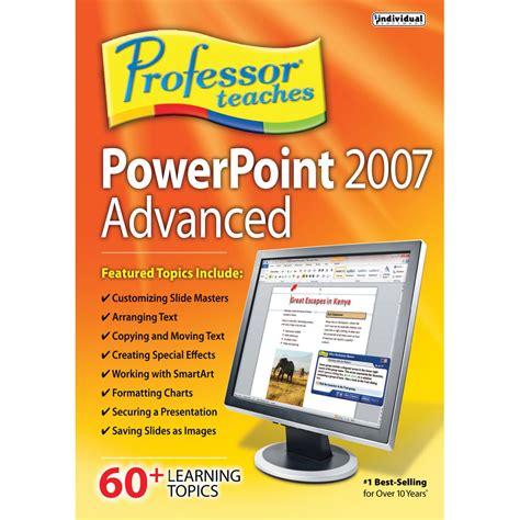 powerpoint tutorial 2007 advanced individual software professor teaches powerpoint 2007