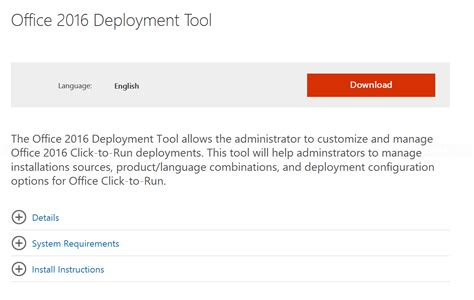 Office Deployment Tool by Customize Office 2016 Installation With Deployment Tool