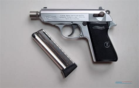 Walther Ppk S 22lr Nickel walther ppk s 22 l r nickel n i b for sale