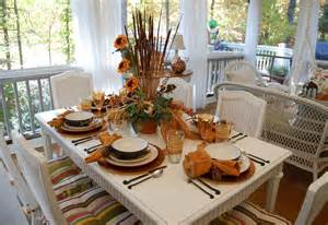 Floral Arrangements For Dining Room Tables fall dining on the porch celebrating the russet shades of