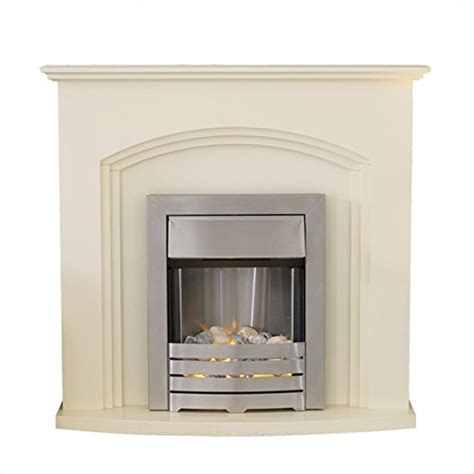 adam truro fireplace suite in ivory with helios electric