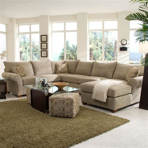 sectional couches with chaise lounge fletcher spacious sectional with chaise lounge by