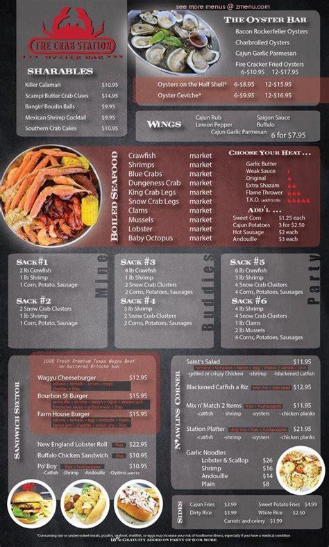 menu   crab station carrollton restaurant