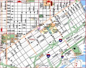 Map Of Downtown San Francisco by Road Map Of San Francisco Downtown Financial District