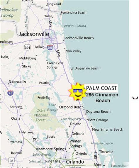 map of palm coast florida palm coast map cinnamon map