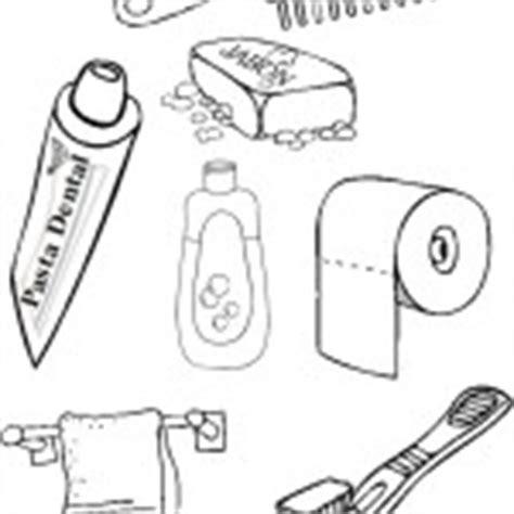 imagenes para colorear utiles de aseo personal dibujos de elementos de aseo personal para pintar