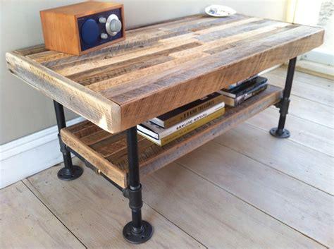 industrial pipe table legs industrial wood steel coffee table or media stand