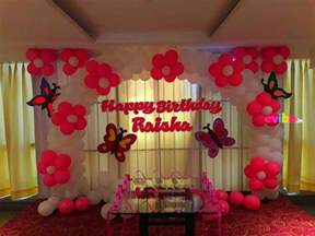 Simple Decoration For Birthday Party At Home by Top 8 Simple Balloon Decorations For Birthday Party At