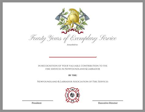 Fire Certificate Template department certificate templates department