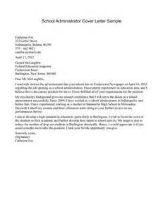 school administrator cover letter sle how to write a cover letter for college 42 images