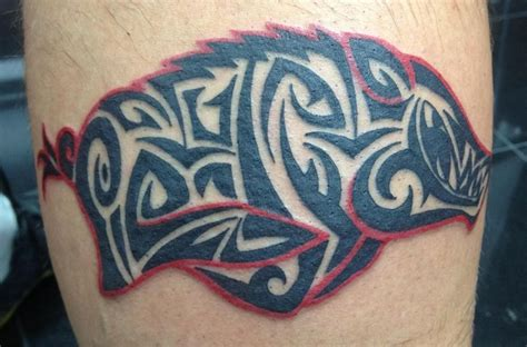 razorback tattoo tribal razorback tatoo