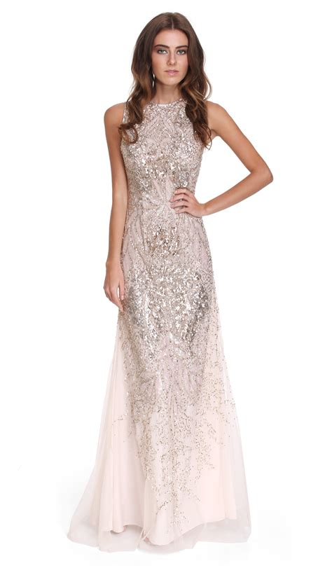 Embellished Wedding Gown embellished sequin gown scala hire dresses