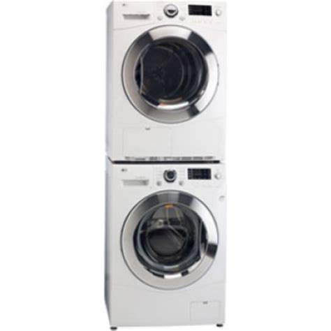 LG WM1388HW Front Load Washer & DLEC888W Electric Ventless
