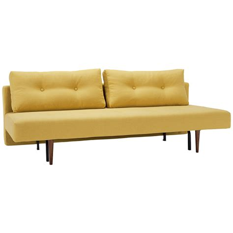 mustard sofa recast sleeper sofa in soft mustard by innovation eurway