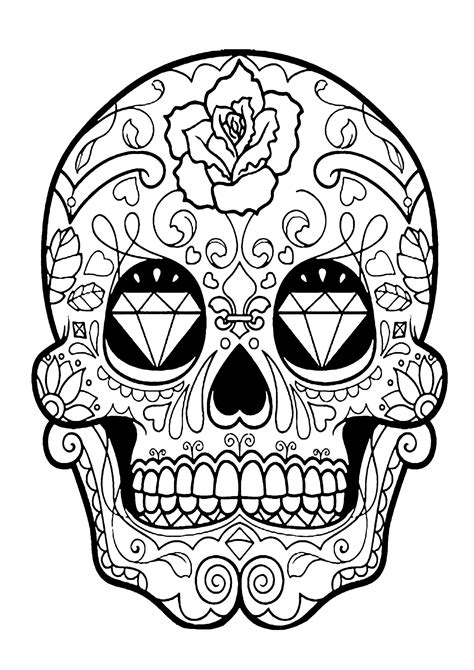 dia de los muertos coloring pages skull coloring pages for adults