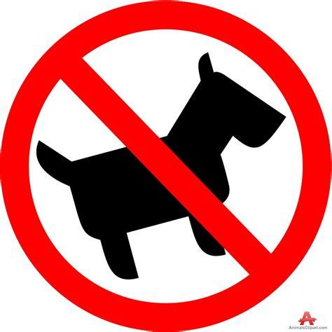no dogs no dogs allowed sign clipart clipground