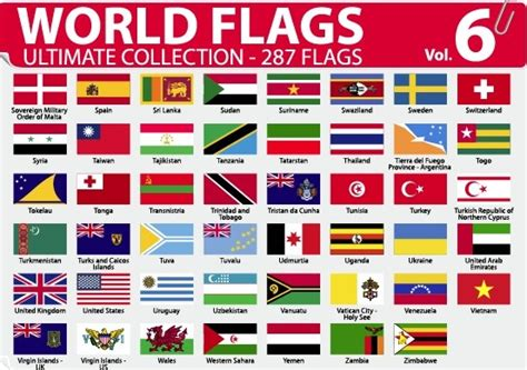 flags of the world to download free various of world flags vector set free vector in