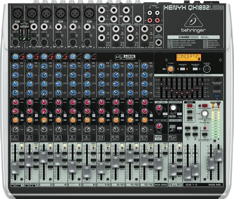 Daftar Mixer Behringer 6 Channel behringer qx1832usb xenyx usb mixer 14 channel zzounds