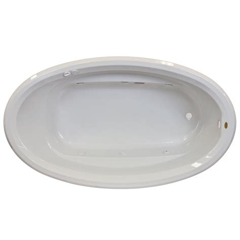 oval drop in bathtub jacuzzi signature 7242 drop in oval tub free shipping