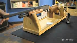 How To Build A Bench Rest For Shooting Brownells Mountain Meadow Woodworks Gun Cradle Youtube
