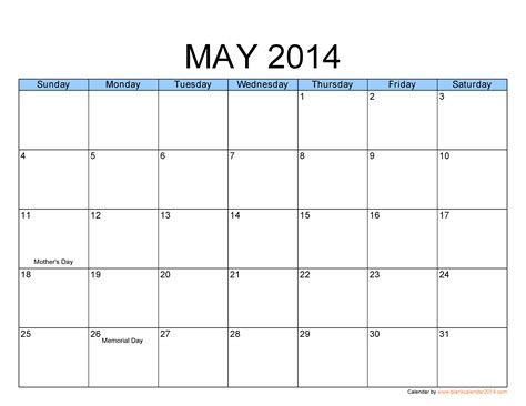 may 2014 calendar template calendar printable images gallery category page 30