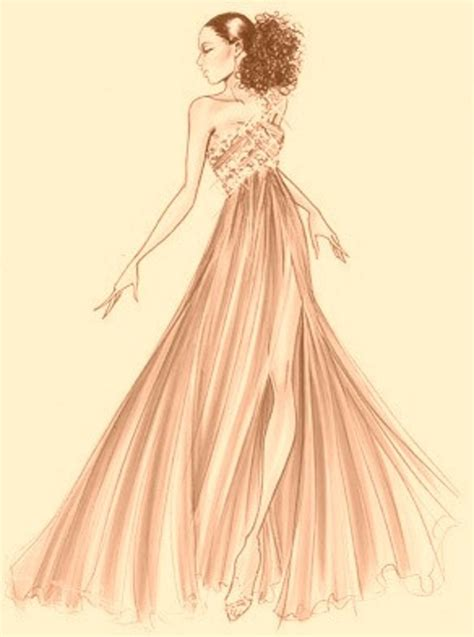 Velin Dress fashion sketch gown fashion ilustrations