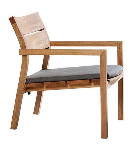 tribu kos kos teak trib 249 easy chair with cushion milia shop