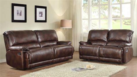 microfiber reclining sofa sets homelegance elsie reclining sofa set dark brown polished