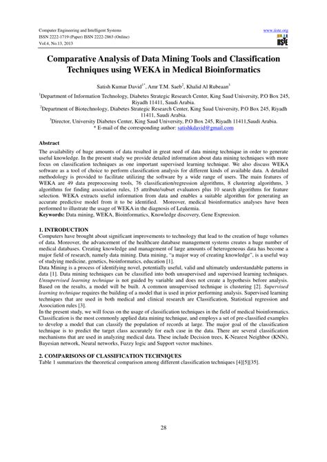 (PDF) Comparative Analysis of Data Mining Tools and