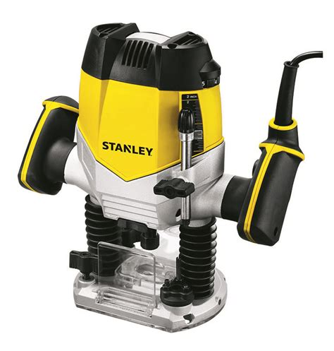 stanley power tools wood working 1200w 8mm plunge router