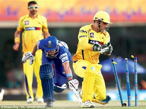 Table Set Up Dhoni Adds A Final Flourish As Chennai Super Kings Beat
