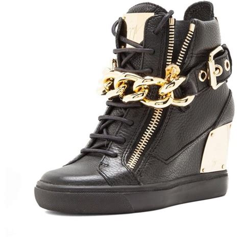 gold wedge sneakers shoes giuseppe zanotti giuseppe zanotti wedge sneakers