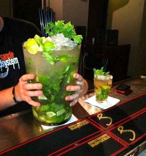 giant alcoholic drink giant mojito cocktail daily picks and flicks
