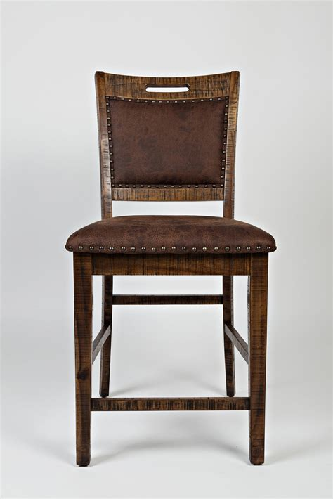 Upholstered Counter Stools With Backs Jofran Cannon Valley Upholstered Back Counter Stool