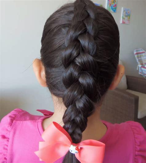 como hacer peinados de trenzas para ninas trenza francesa invertida para ni 209 as peinados para ni 209 as
