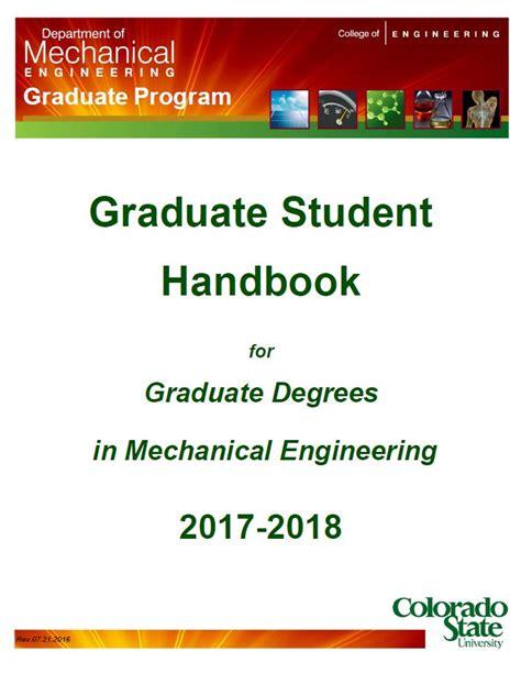 phd advisor questions graduate student handbook department of mechanical