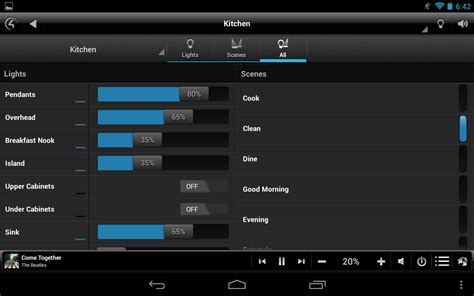 App Controlled Lighting by Control4 174 Myhome Android Apps On Play