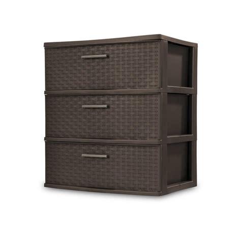 sterilite 3 drawer wide weave tower sterilite 3 drawer wide weave tower with driftwood handle