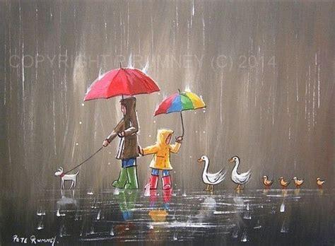 acrylic painting umbrella pete rumney modern acrylic painting original